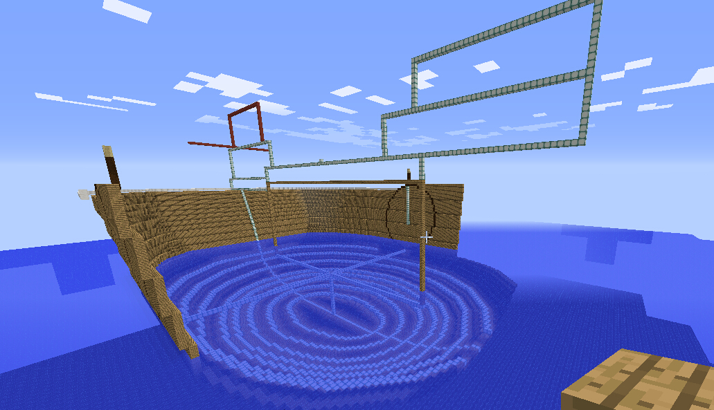 调整船底为正常椭圆型,并按走势延伸船头,前推士兵船坞系统。