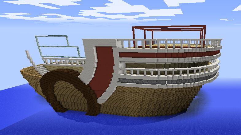 完成士兵船坞系统大门和船尾。