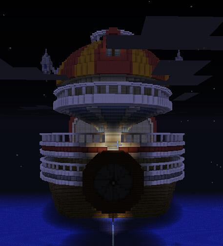 加上两侧小灯笼,风来炮喷射口(还是同心圆)。
