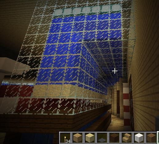 水族箱右侧一角及水之酒吧内走廊。