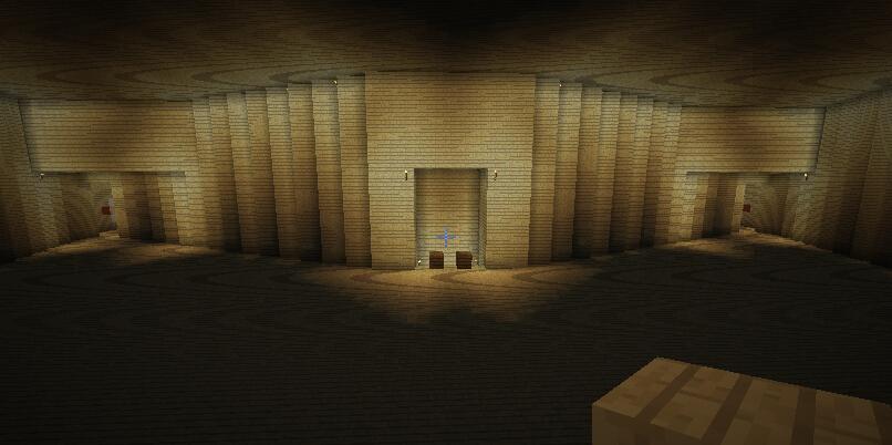 木材库(装修前,内有左前第一火炮室与右前第一火炮室)