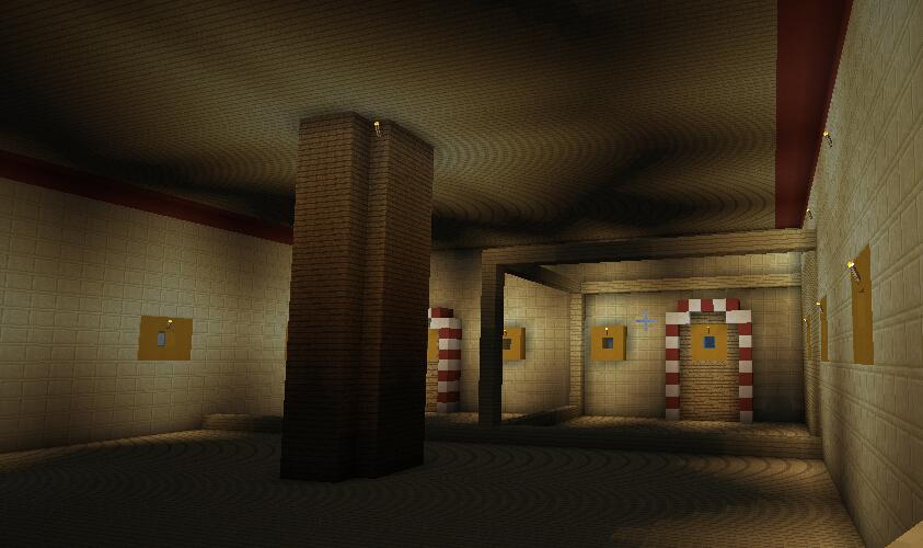 三楼厨房餐厅(装修前,确定保健室和食材库的框架,中间为升降梯)